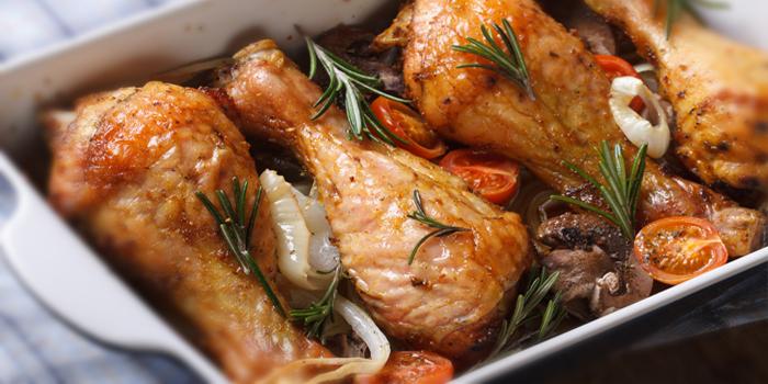 piernas de pollo al horno